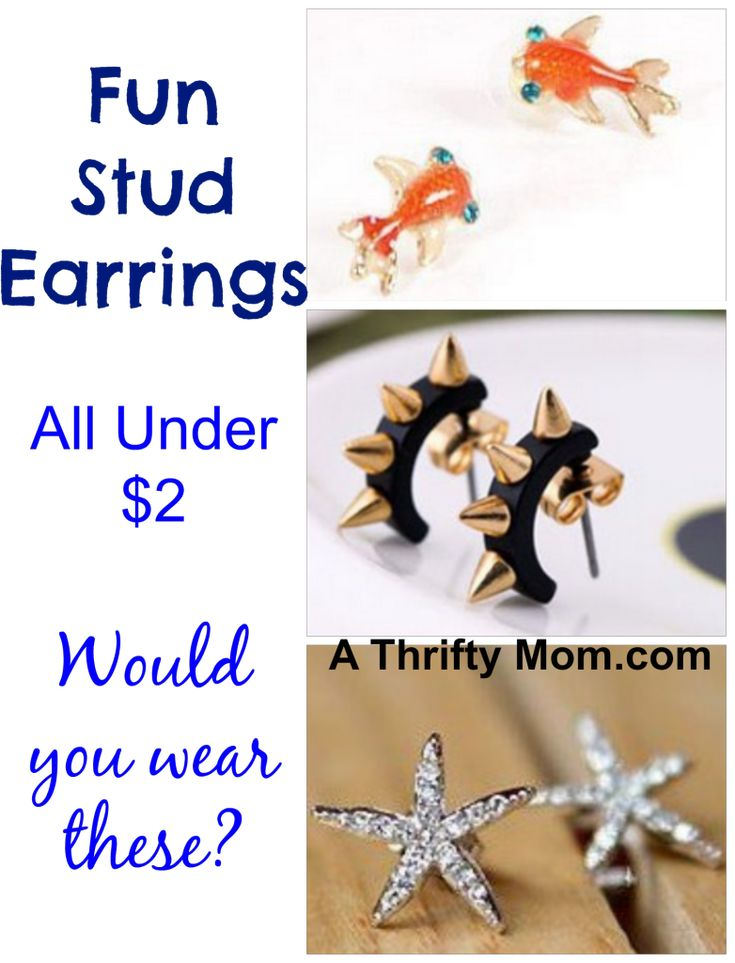 FUN STUD EARRINGS ALL UNDER $2 SHIPPED! ~ GREAT GIFT IDEAS: Online Fashion, Gift Ideas, Stud Earrings, Great Gifts, Fun Stud, Fashion Deals