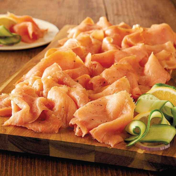 This premium offering of nova salmon from ACME Smoked Fish features rich and hearty Atlantic salmon that has been hand-cut, cured using the perfect blend of ingredients, and slowly smoked over real hardwood.