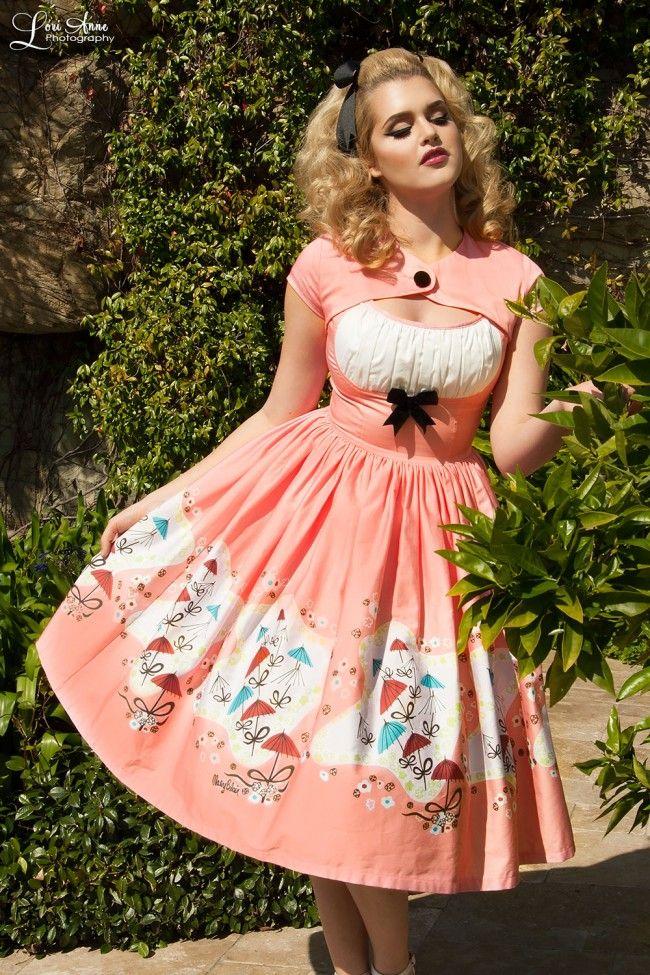 Evelyn Dress in Mary Blair Umbrellas Print