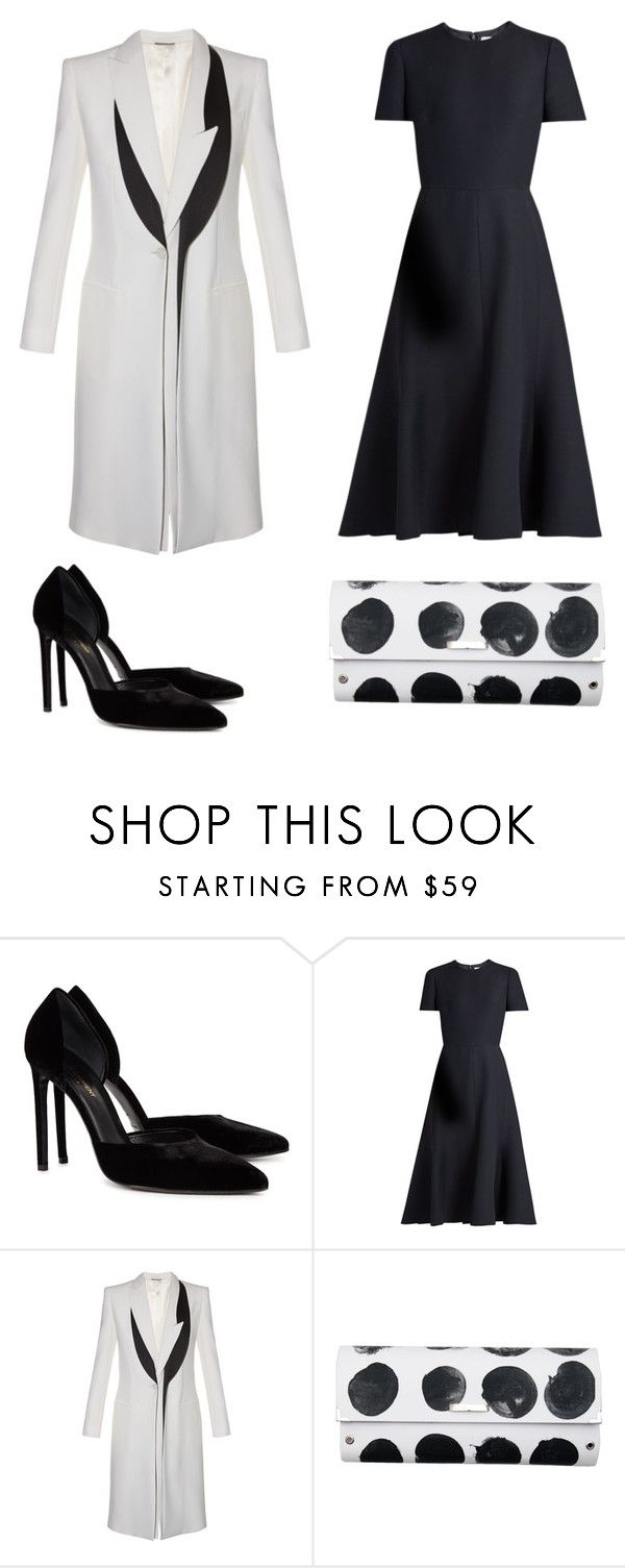 """Без названия #2543"" by xeniasaintp ❤ liked on Polyvore featuring Yves Saint Laurent, Valentino, Alexander McQueen and Spanaki"