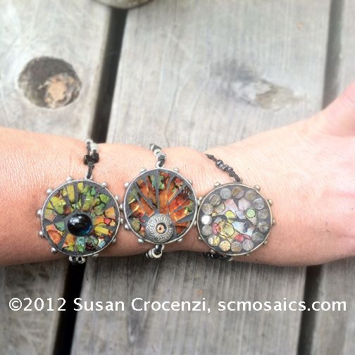 Mosaic Bracelets by sucra88, via Flickr