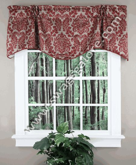 Montego Stripe Lined Scalloped Valance: 1000+ Images About Lined Valances On Pinterest