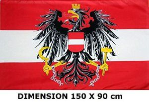 *** PROMOTION *** Drapeau Autriche Autrichien – 150 x 90 cm