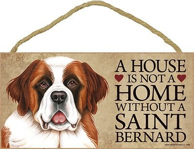 st bernard wall art | Saint Bernard Wood Dog Sign Wall Plaque 5 X 10 used, new for sale ...