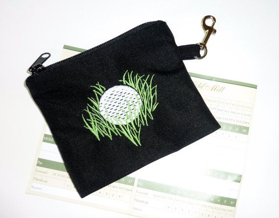 Golf Accessory Bag Golf Ball in the Rough by bagsbybrenda on Etsy
