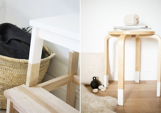 Idea for simple birch ikea furniture colour blocked for Ikea free couch giveaway