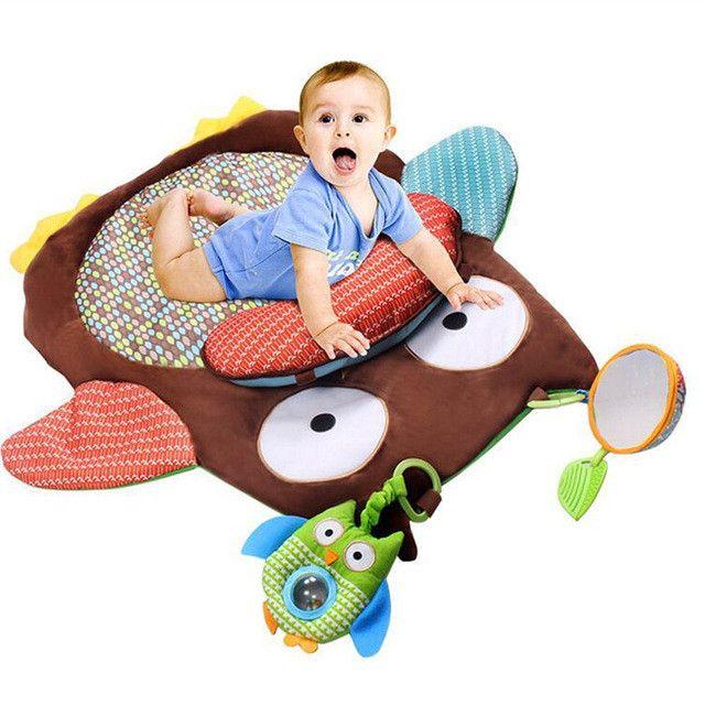 Baby Play Mat Owl Stuffed Animal Pillow