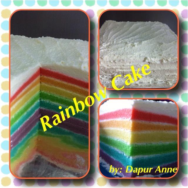 Steamed Rainbow Cake by Dapur Anne