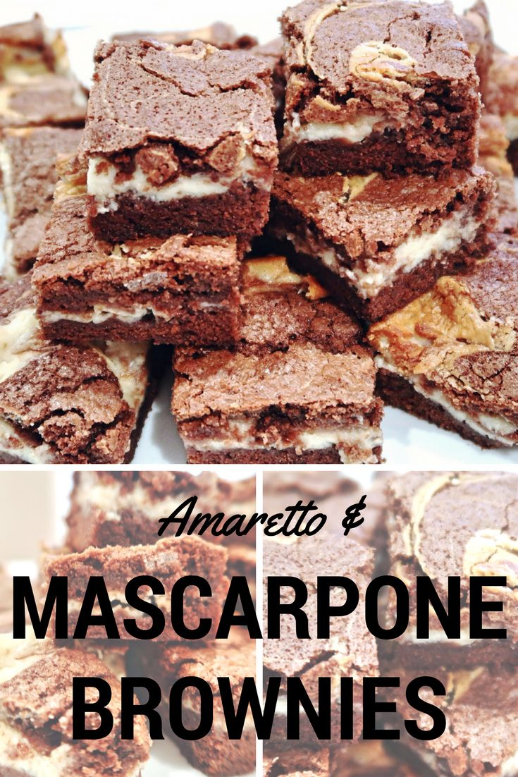 Amaretto and Mascarpone Brownies – Daddy Cooks Food