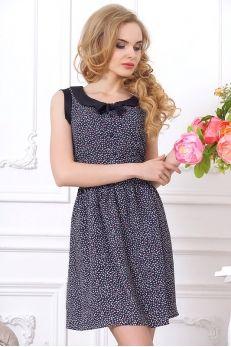 """Нежное платье с воротником """"Питер Пэн"""""""
