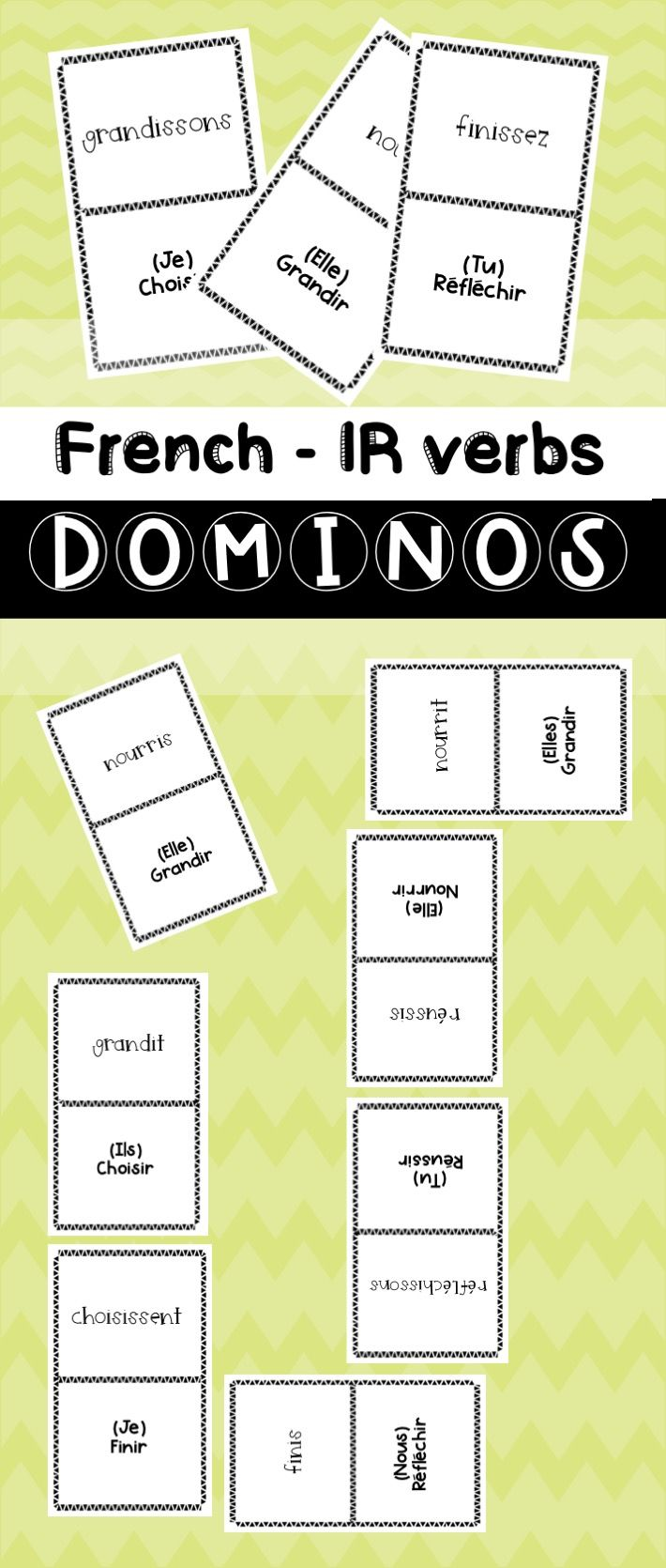 French Ir Verbs Dominos Fun Fun Games Fun Activities [ 1670 x 710 Pixel ]