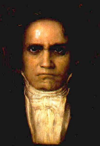 Franz Stuck (German 1863–1928), [Symbolism, Art Nouveau] Portrait of Beethoven.