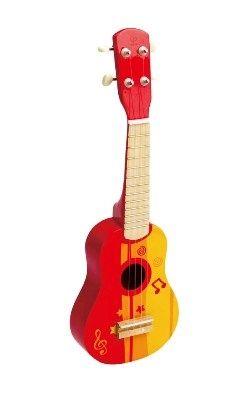 Drewniana gitara czerwona Hape to i inne drewniane zabawki na www.kidsabc.pl