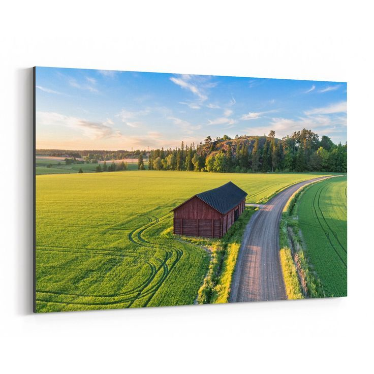 Noir Gallery Rural Farm Landscape Finland Canvas W…