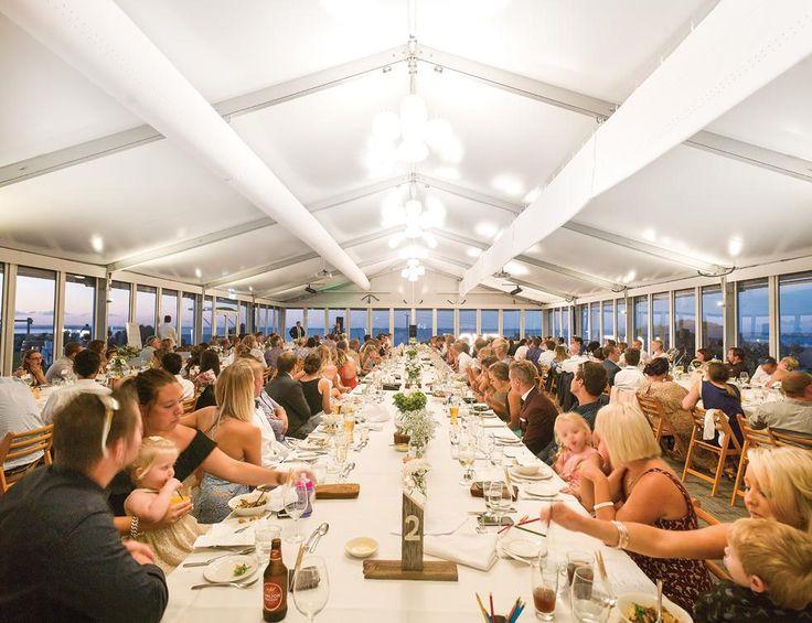 Toast to the bride & groom in the Bayview Room at Silverwater Resort.   #silverwaterresort #phillipislandwedding #regionalvictoira #marqueewedding