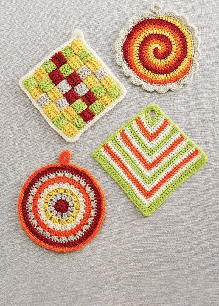 Crocheting Hotpads : ... crochet hotpads on Pinterest Hot Pads, Potholders and Crochet