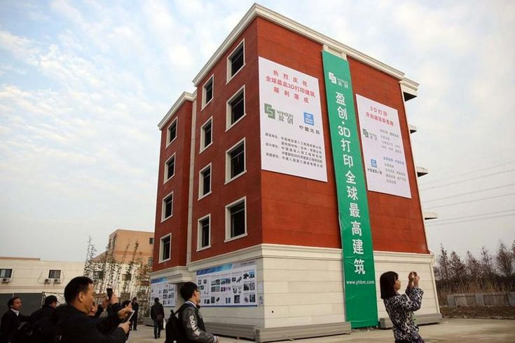 chinese-based winsun 3D prints six-story apartment