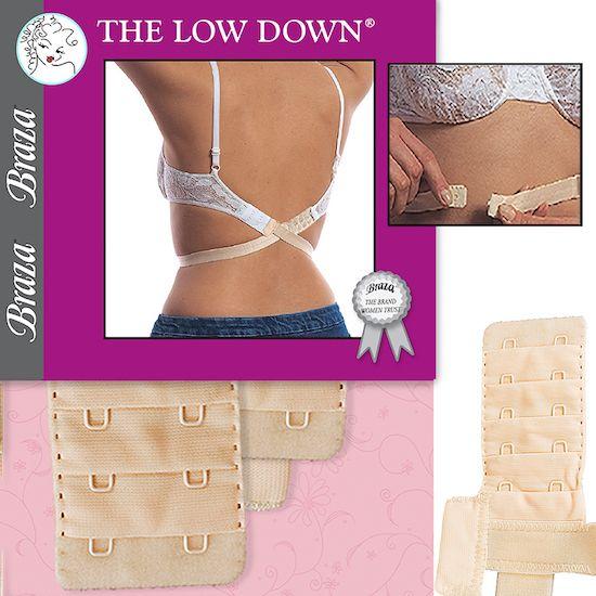 Adjustable low back bra strap converter hides bra straps