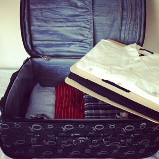 Look how amazing you can pack your business travel clothes! Stays neat & flat and easy to find!