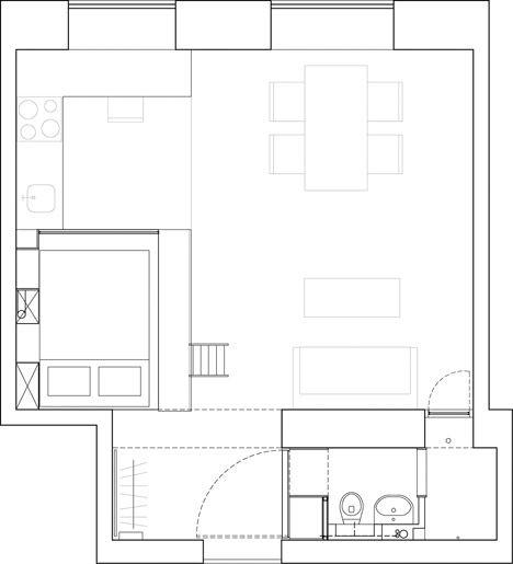Floor plan of Stockholm apartment by Karin Matz