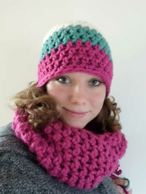free pattern for easy, super bulky beanie at Threadyarknot: 30 minuten muts patroon - Easy peasy hat pattern