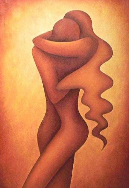 LOVERS - © 2005 Anita Burnaz -  Painting Online Artworks