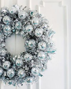 Disco Ball Wreath / Photo Credit: A Beautiful Mess