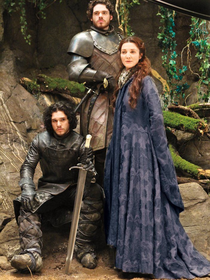 Jon Snow, Robb & Catelyn Stark.