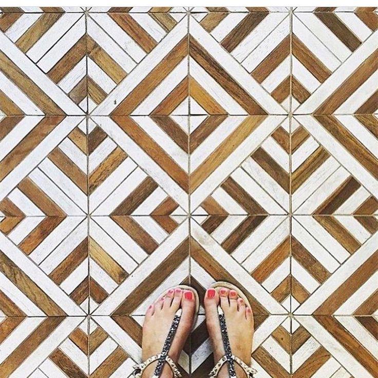 Frank Cinta tile made from 100% reclaimed teak wood. #wood #tile #reclaimedteak #cinta