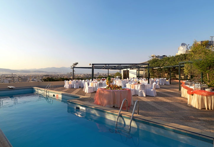 Enjoy the amazing #view while #swimming! #Rooftop #pool of #Hotel #Stanley, #Athens #Greece