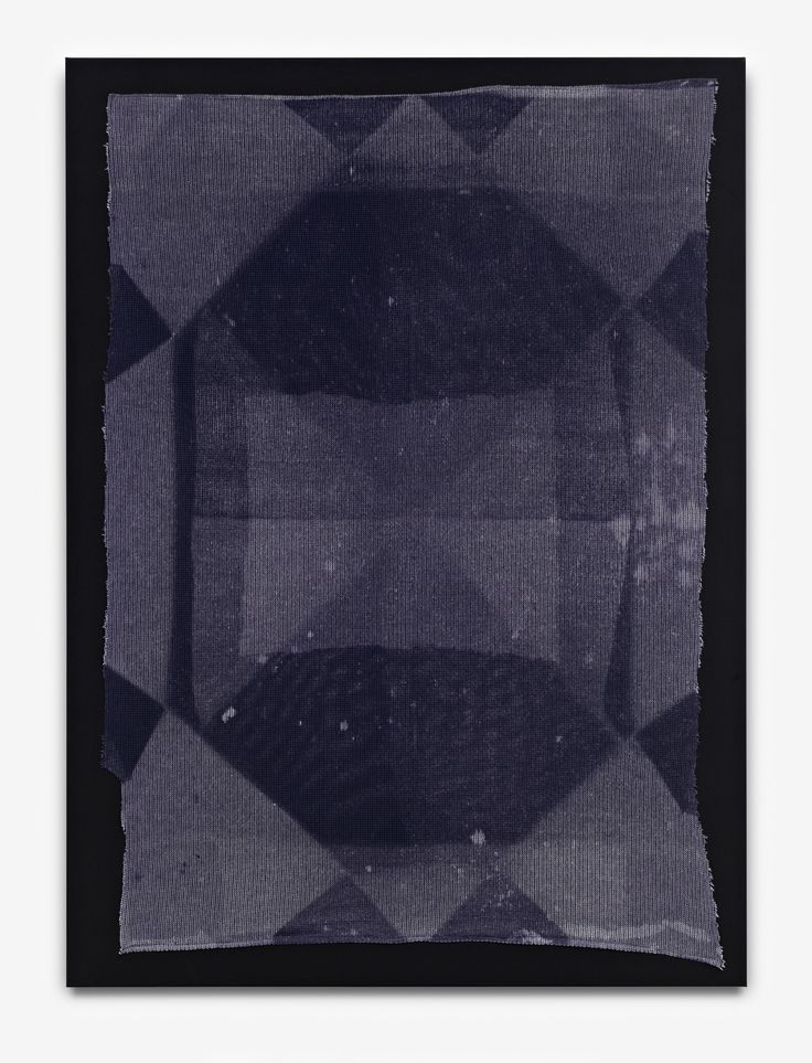 "Anja Schwörer [Germany] (b 1971) ~ ""BP_0413"", 2013. Bleach on fabric (150 x 110 cm). | #art #painting #abstract #expressionism"