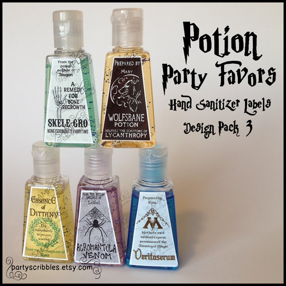 Harry Potter inspired Potion Party Favor Labels for bath and body works travel hand sanitizers!