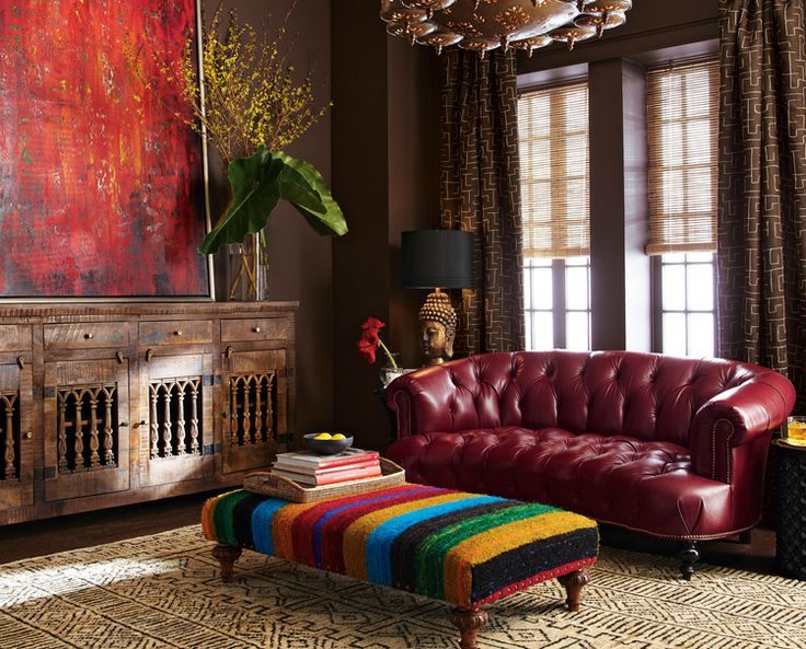 """boho chic"""" interiors, often a bit chaotic in their mix and sheer quantity of furnishings and accessories....absolutely stunning!"""