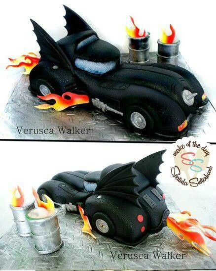 Batman Car Birthday Cake  Davis Party  Pinterest
