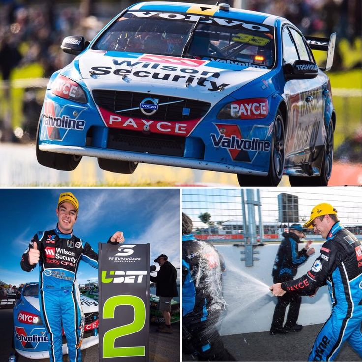 Scott McLaughlin scores a 2nd at the Perth Super Sprint May 2016 in his Volvo S60.