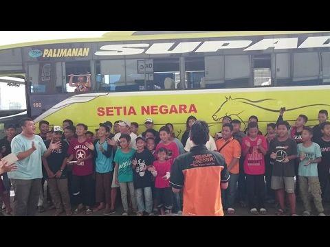 Klakson Telolet Bus Setia Negara, Supporter yang paling banyak di puloge...