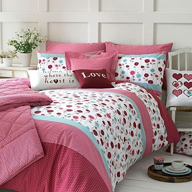 Red 'Lydia' bed linen - Duvet covers  pillow cases - Bedding - Home  furniture -