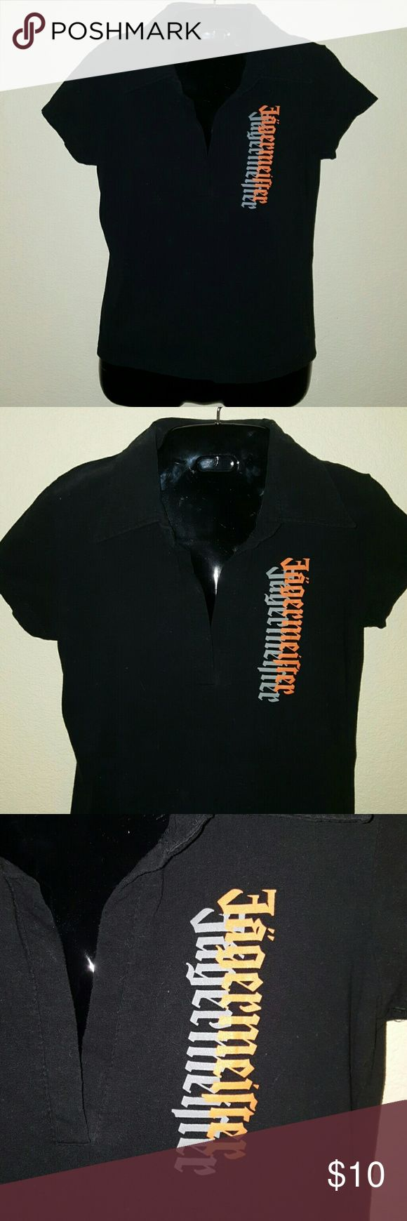 Jagermeister Polo Shirt **sale** Like new Polo Shirt with Jagermeister on front and back of shirt in orange. Tops