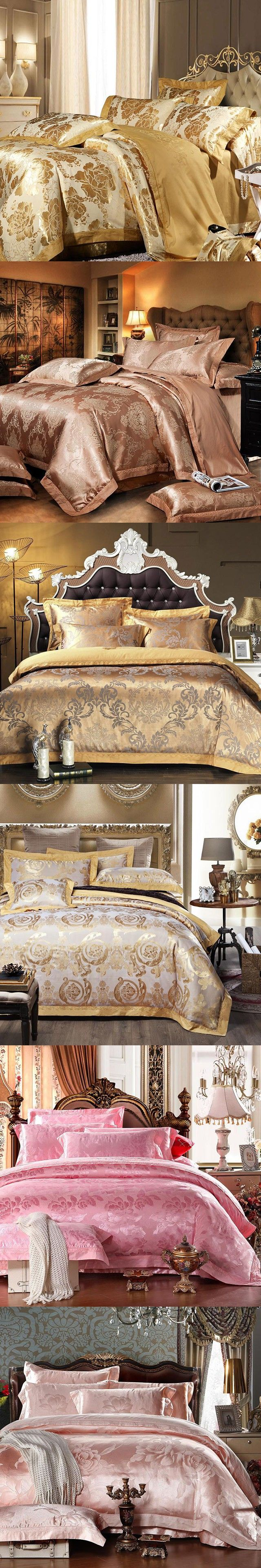 Bed sheets for wedding - Big Sale 50 Off Home Textiles Bedding Set Luxury Wedding Decorative Bed Sheet 4pcs High Quality Bed Linen Duvet Cover