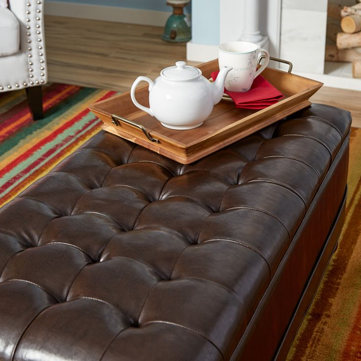 Amhearst Tufted Storage Ottoman. Baby SafeStorage BenchesOttomansCoffee  Tables