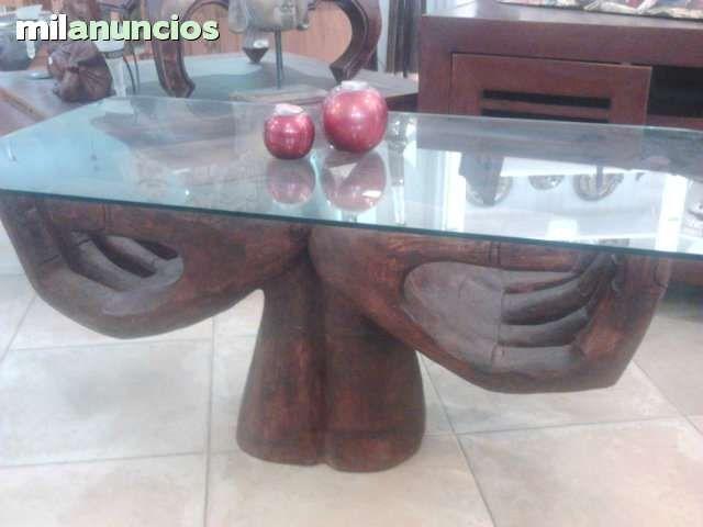 . mesa manos talladas y pintadas a mano en madera de suar precios sin competencia www.balindia.es