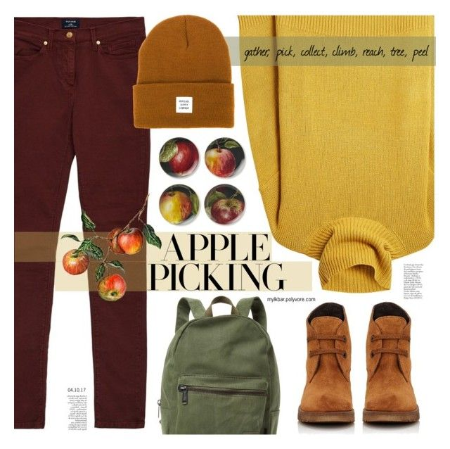 """""""Harvest Time: Apple Picking"""" by mylkbar ❤ liked on Polyvore featuring GANT, Joseph, Williams-Sonoma, Herschel Supply Co., Barneys New York, polyvorecommunity, polyvorecontest and applepicking"""