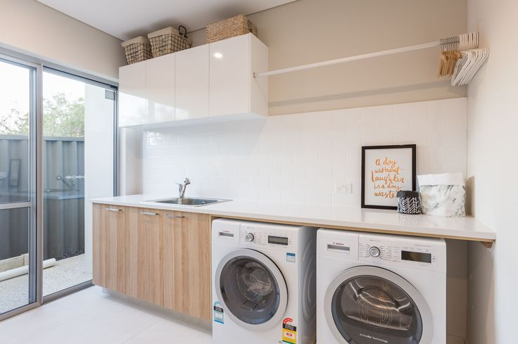 Scandinavian Style Laundry in our Merlot Display Home