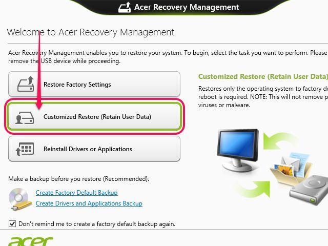 How To Reset An Acer Laptop Laptop Acer Acer Reset