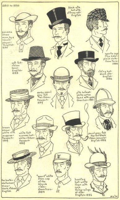 Village Hat Shop Gallery: Chapter 17 - 1880-1890 Hat Styles