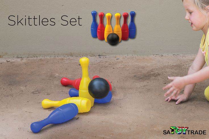 Whether at home or on holiday, take advantage of the sun and play with this Skittles Set. It features 10 colourful plastic skittles and two balls in a handy zip-up carry bag. The skittles are around 18cm tall in this fun family game. This Skittles Set is wonderful for children to learn their colours, develop their coordination and allowing them to learn how to roll a ball and aim at the skittles while having fun knocking over the pins. They can play with it on the floor, table or outside.