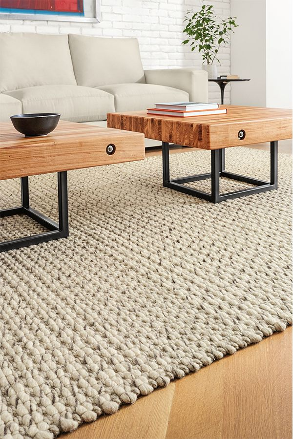 Our favorite cozy sweaters provided the starting point for this rug.