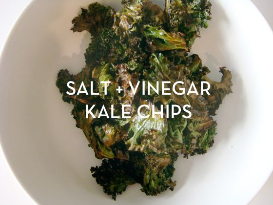 Kale, salt + vinegar chips. The delicious alternative to potato chips. I can't stop eating these whenever I make them.