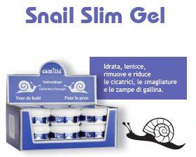 #Camille SNAIL SMIL GEL, è un gel contenente estratto di bava di lumaca #Allantoina ottenuta in un modo naturale. Aiuta la pelle a rigenerarsi, riducendo  #rughe, cicatrici, zampe di gallina e #smagliature
