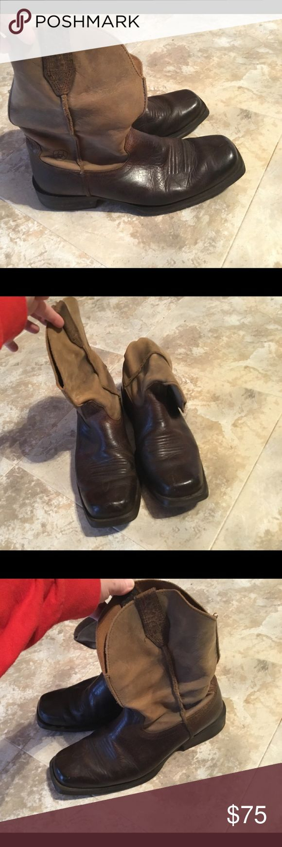 Ariat Cowboy Work Boots, size 10.5 D Selling my husbands Ariat boots, size 10.5D. Still in Very Good Condition, he just has so many pair he is giving up a few. Shipping is generally within 24 hrs. Smoke free home. Thank you for viewing. Ariat Shoes Boots